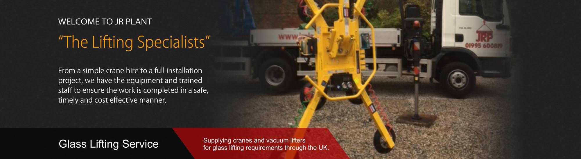 glass lifting crane hire lancashire